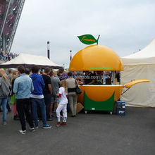 Mobile Orange Juice Bar Kiosk Design 4 Wheels Fruit Kiosk/food cart/food stall