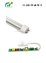 SMD led t8 fluorescent lamp 9w 12w 18w 24w t8 led tube with ETL EMC and CE use in replace led tube lighting