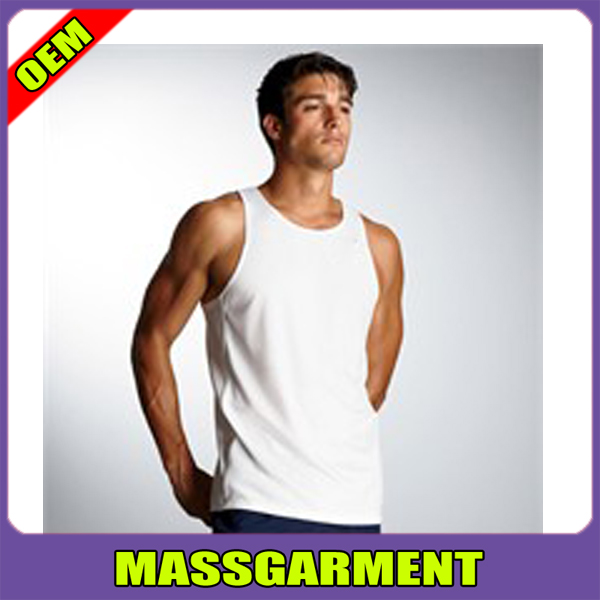Wholesale Plain White Tank Top Mens Athletic & Tank Top Gym