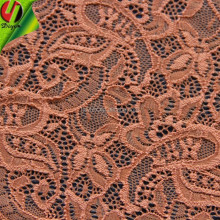 french orange color lace guipure embroidery fabric
