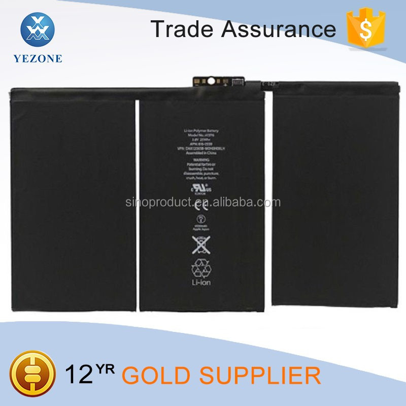 High Quality 6500 mAh Mobile Phone Battery for iPad 2 Replacement Parts