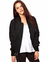 Ladies Women Sport Casual Classic Zip up Biker Jacket Baseball Jacket Blouse