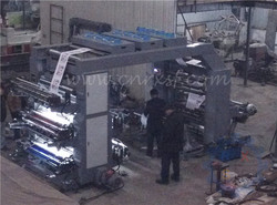 6 color flexographic printing press with UV