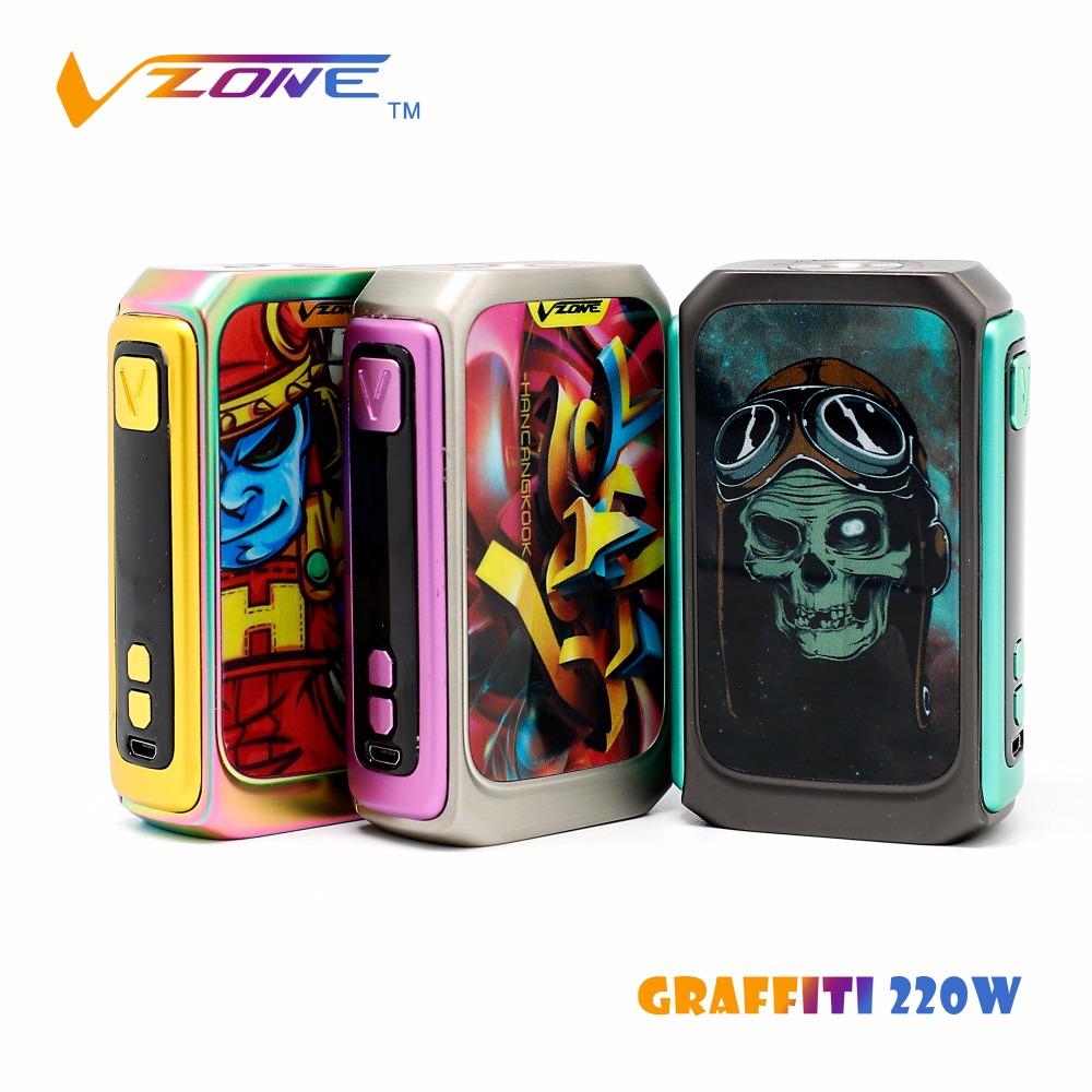 Vzone original e cigarette vape vzone graffiti 220w box mod electronic cigarette price in saudi arabia