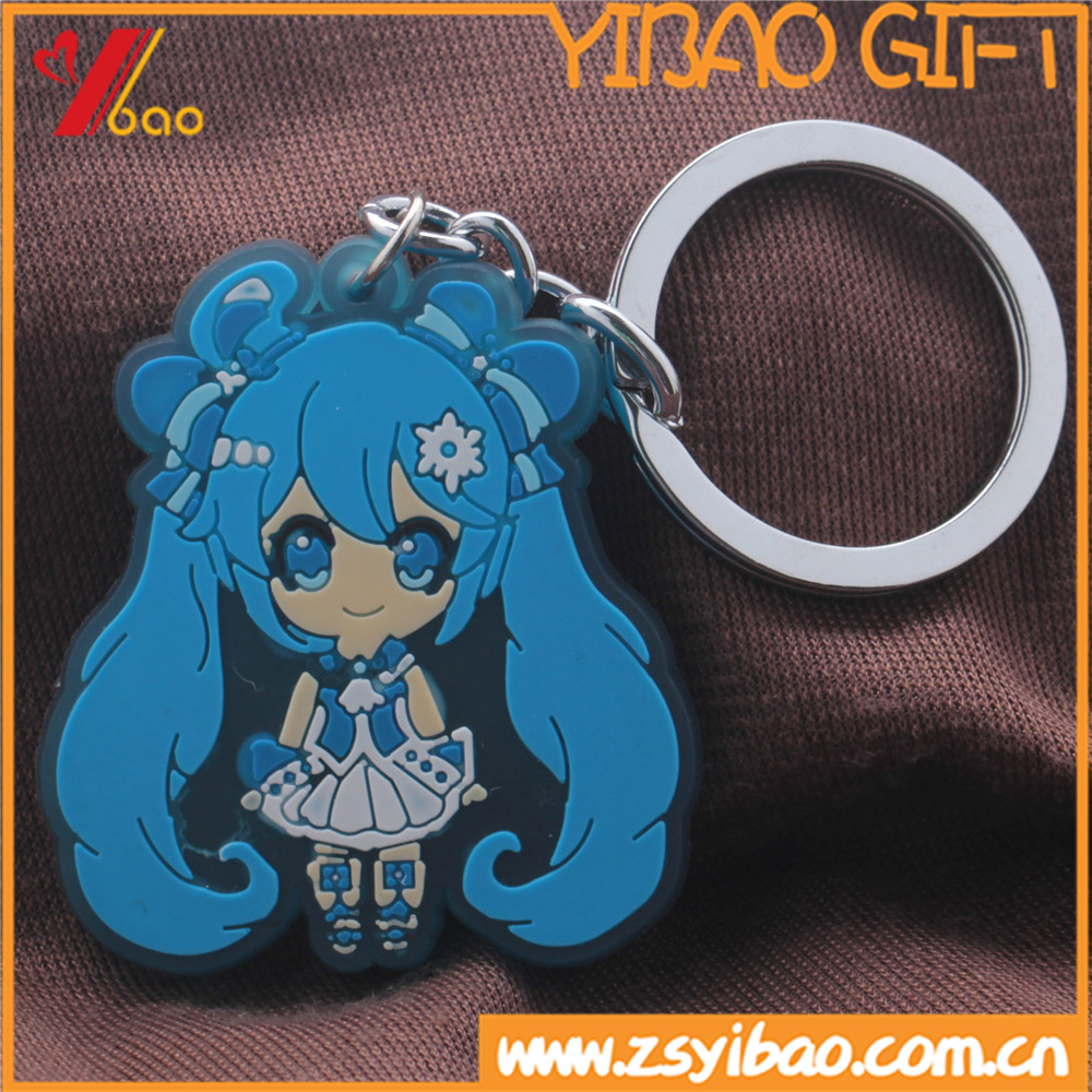 Best Selling Items Silicone Keyring 3d Soft PVC Keychain