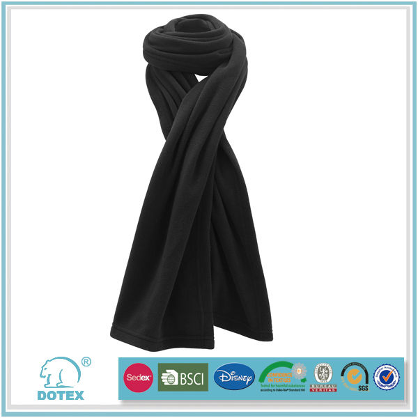 100% polyester polar fleece anti-pilling handmade knitted scarf