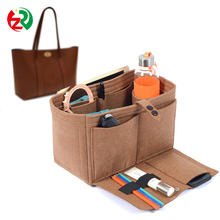Amazon Hot Selling Lady Purse Organizer, high quality fashion design felt handbag insert