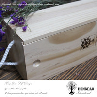 HONGDAO super high quality wooden box wholesale,wooden gift box wine storage holder