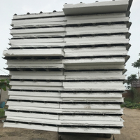 Colorful roof and wall polyurethane steel fabricated sandwich panels