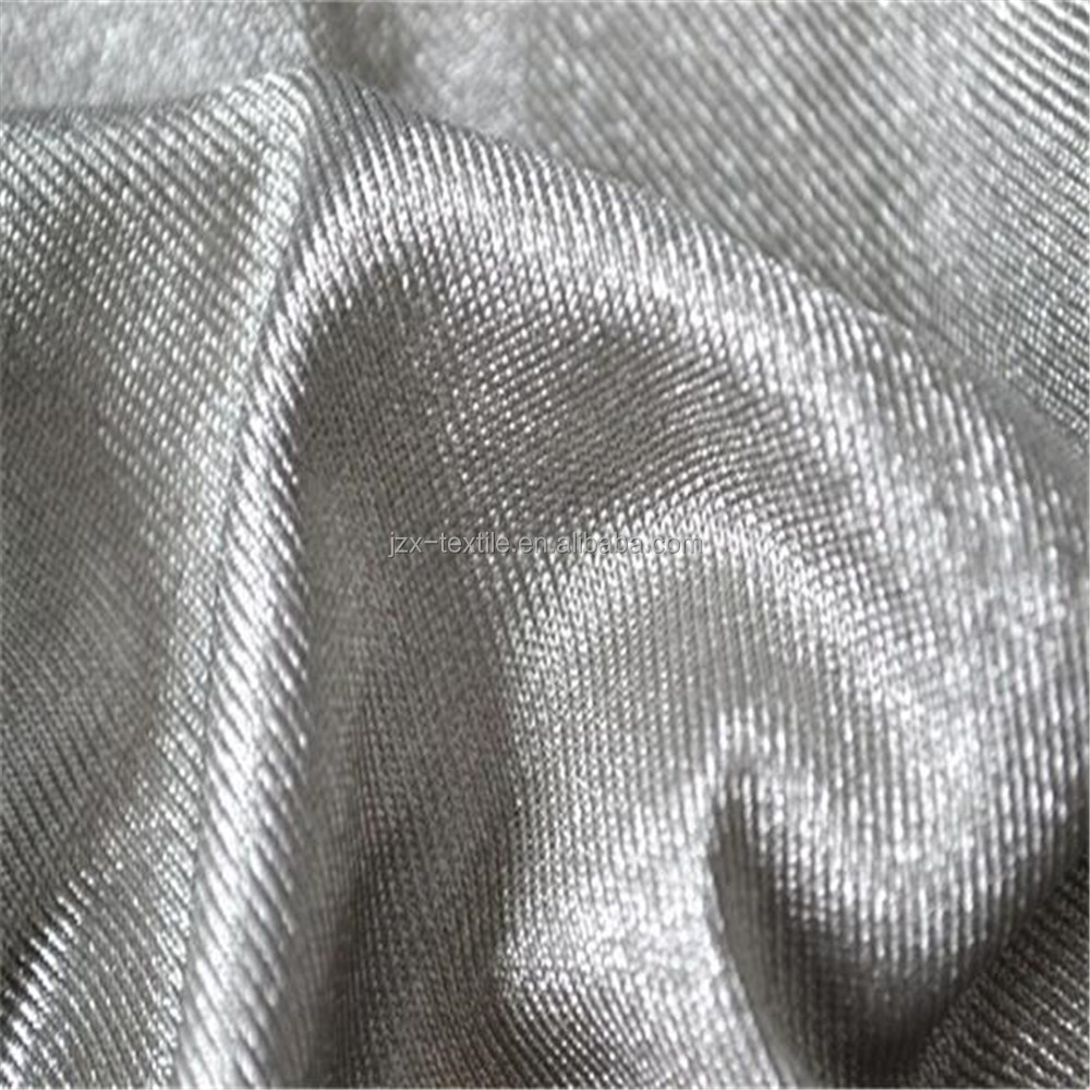 100% Silver fiber Anti - electromagnetic radiation knitted fabric