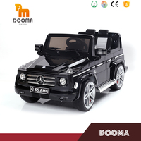 Electric toy kid ride on car 12v with remote control authorization by Mercedes Benz G55 SUV children electric car with RC