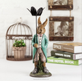 Adorable resin decor art bunny stand candle holder
