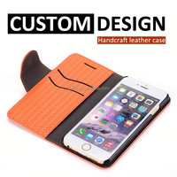 Hot selling mobile phone accessories wholesale case for iphone 6 oem wallet leather