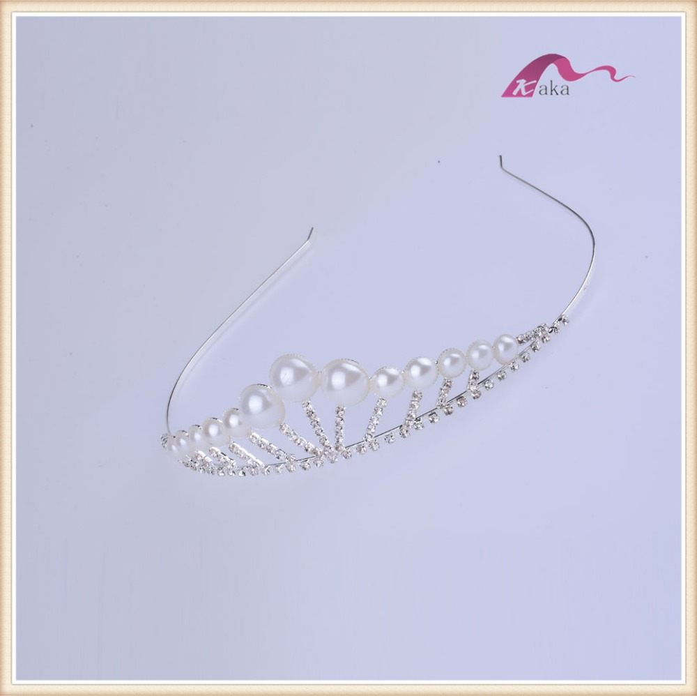 Fashion wedding hair accessories charm pearls crystal bridal headband for marring