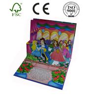 Custom printing kids coloring hardcover pop up pop up board book