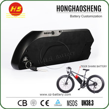 13S5P 18650 17Ah Electric bike battery shark lithium ion battery pack 48v