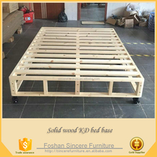 Bedroom furniture wooden KD bed base mattress foundation