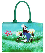 The Latest and High-end Green Canvas Designer Summer Handbag