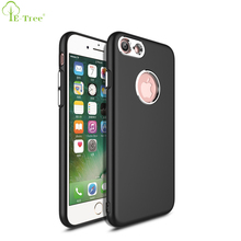 Smart Phone Metal Spraying Texture Matte Plating Soft TPU Bumper Back Cover Case For iPhone 8