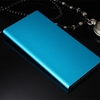 Portable Ultrathin power bank 10000mah LED Light Brushed Aluminum Dual USB Backup Battery for Phone and Tablet