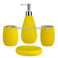 dolomite with rubber coating bath set of 4pcs BC9065