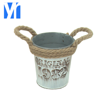 Fashion garden metal iron plant planter flower pots for home decoration