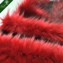 Wholesale High quality Long Pile Faux Fox fur Fabric for Cloth Scarf and Plush Toys