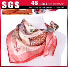 Quality and quantity assured digital print silk scarf