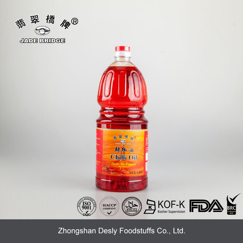 1.86L Bulk Packaging Hot Chilli Oil for restaurant