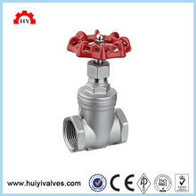 ASTM wc6 dn100 pn16 full female npt thread gate valve