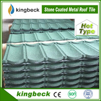 Kingbeck Classic Type Stone Chipes Copper Colored Metal Roof Tile