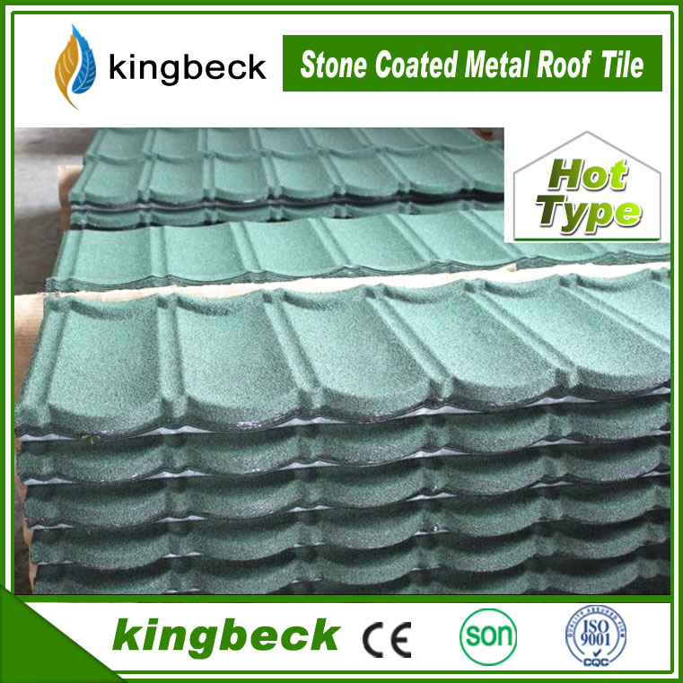 Mega March Sourcing Kingbeck Stone Chipes Colored Metal Roof Tile