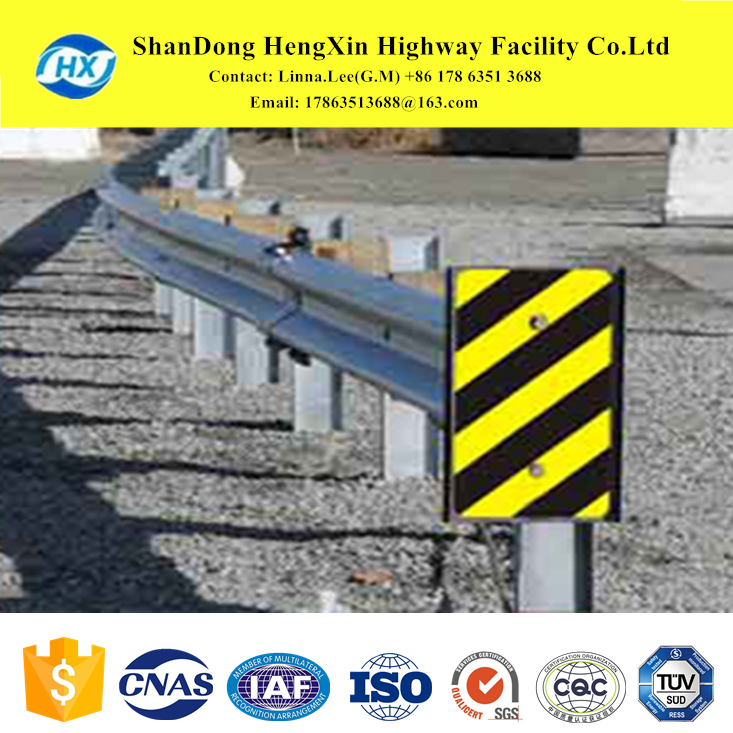standard galvanized w beam and steel stanchion for road safety highway guardrail