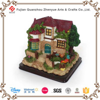 2015 cheapest resin fairy garden house for sale