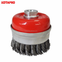Twisted knot steel wire 80MM diameter cup brush