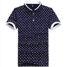 All Over Rubber Print Polo Shirts Rib Collar & Cuff Cotton Polyester Short Sleeve Pique Polo shirts