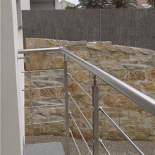 galvanized steel pipe balcony railing / steel pipe handrail / cable stair balustrade