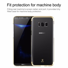 Baseus Plastic Case Luxury Plating Hard PC Phone Case For Samsung Galaxy S8 S8 Plus S7 Edge