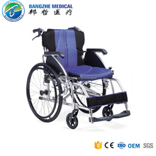 Druable Lightweight manual folding wheelchair for handicapped with double cross bar