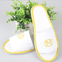 Open Toe Adult Slippers Cloth Spa Hotel Unisex Slippers for Women and Men