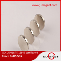 best price N50h strong disc neodymium magnet for DC motor in china