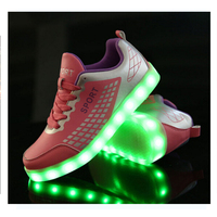 Ayakkabi yayan smart shoes ,female pink 3d mini sneaker with usb