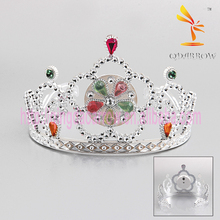 Led Plastic Flower Party Crown Princess Tiara for Girls
