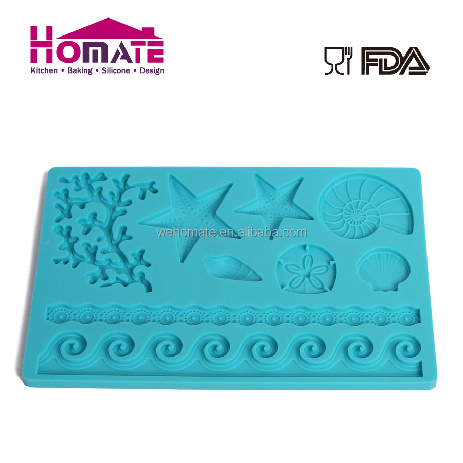 Silicone Fondant mould Cake Cookie Insect Ocean Series Embosser Pastry Baking fondant mould