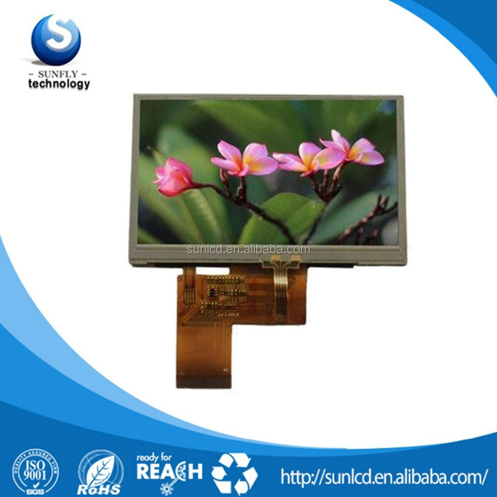 4.3 TFT LCD 480x272 40 pin with 4 wire touch screen 4.3 tft lcd module