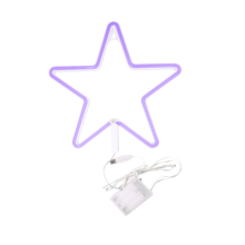 Colorful 2835 SMD LED Table Lamp 5V Plastic Marquee Warm White Nightlight Star Shaped Neon Light <strong>Signs</strong> For Christmas Decoration