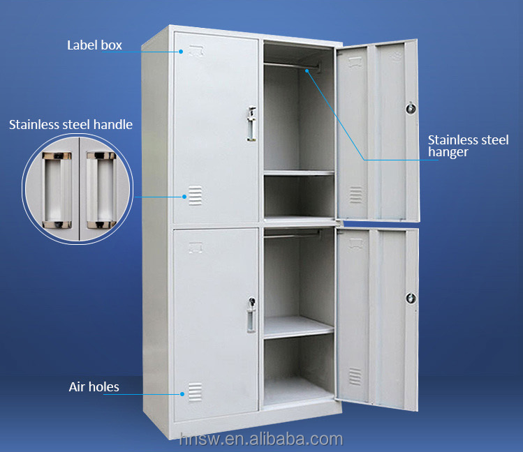luoyang 4 doors locker for changing room steel locker for hanging clothes