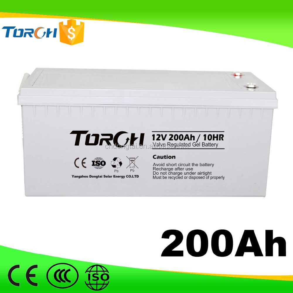 12v 200ah solar battery deep cycle agm gel battery