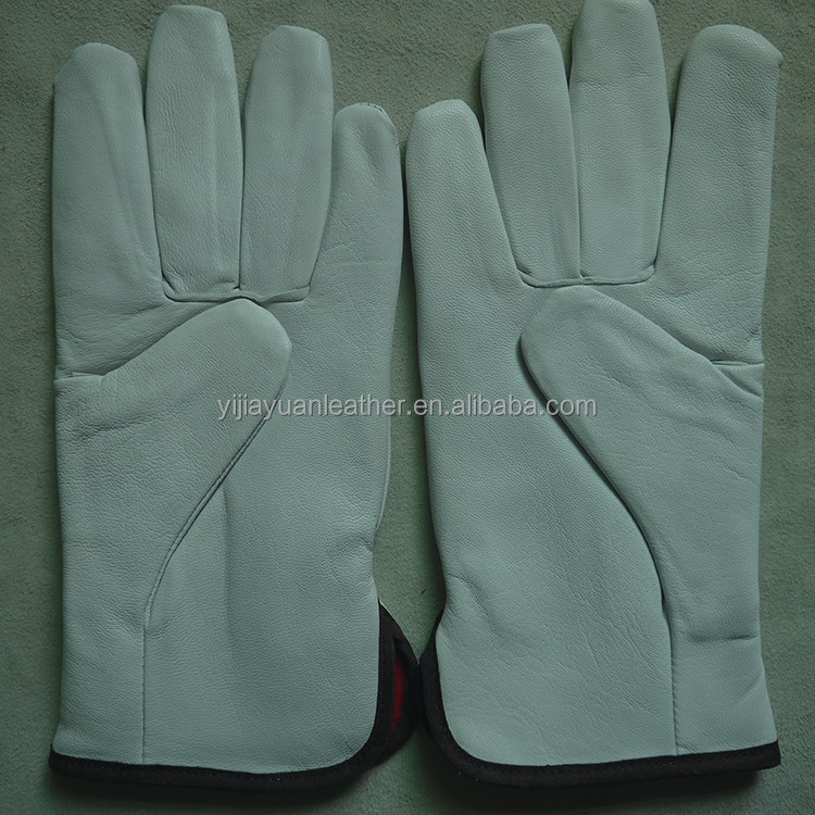 AB grade goat skin driving drivers gloves with full linning
