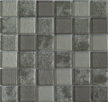 Hot sale glass mosaic crystal cold spray glass mosaic tile with pearl mosaic mirror solar lights